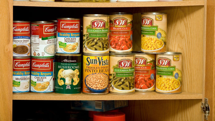 Lot of canned foods