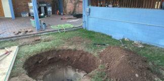 A backyard mystery hole