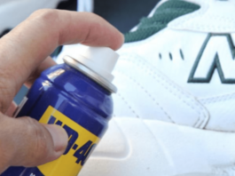 shoe cleaning with wd40