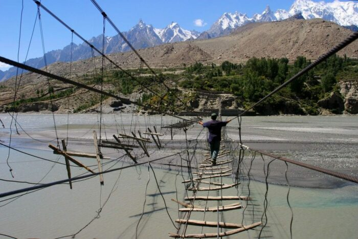 Hussaini Hanging Bridge, Pakistan