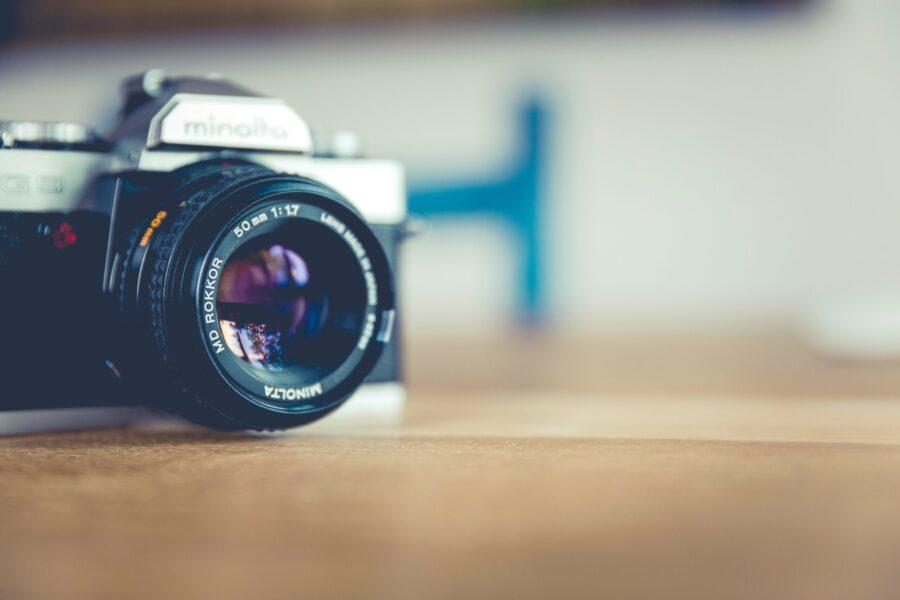 Bild på en kamera
