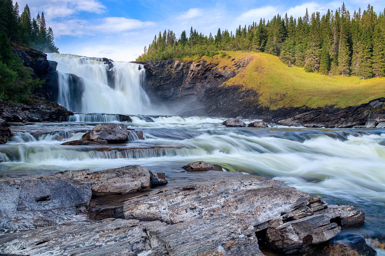 Tännforsen ett känt vattenfall i Sverige